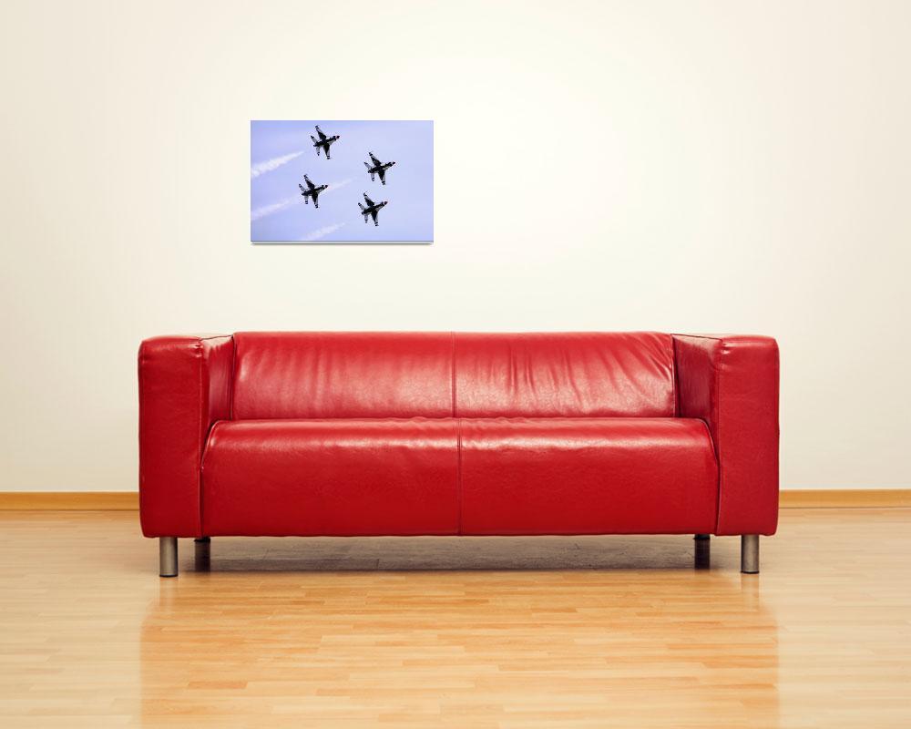 """""""Thunderbirds 1 thru 4 smoke trails""""  by DonnaCorless"""