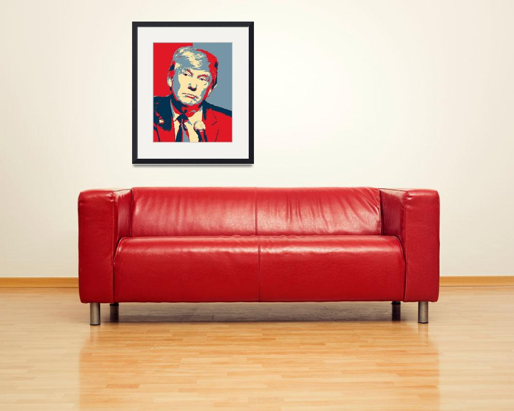 """""""President Donald Trump Hope Poster&quot  by motionage"""