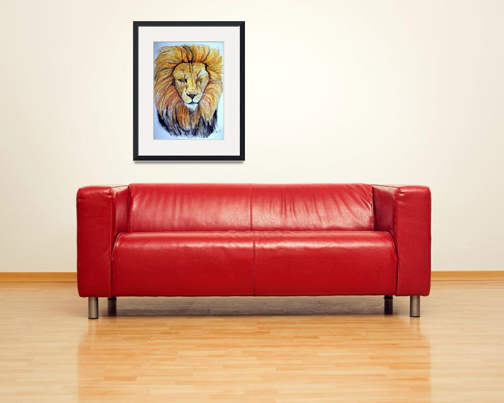 """""""Lion""""  (2009) by ChrisCrowley"""