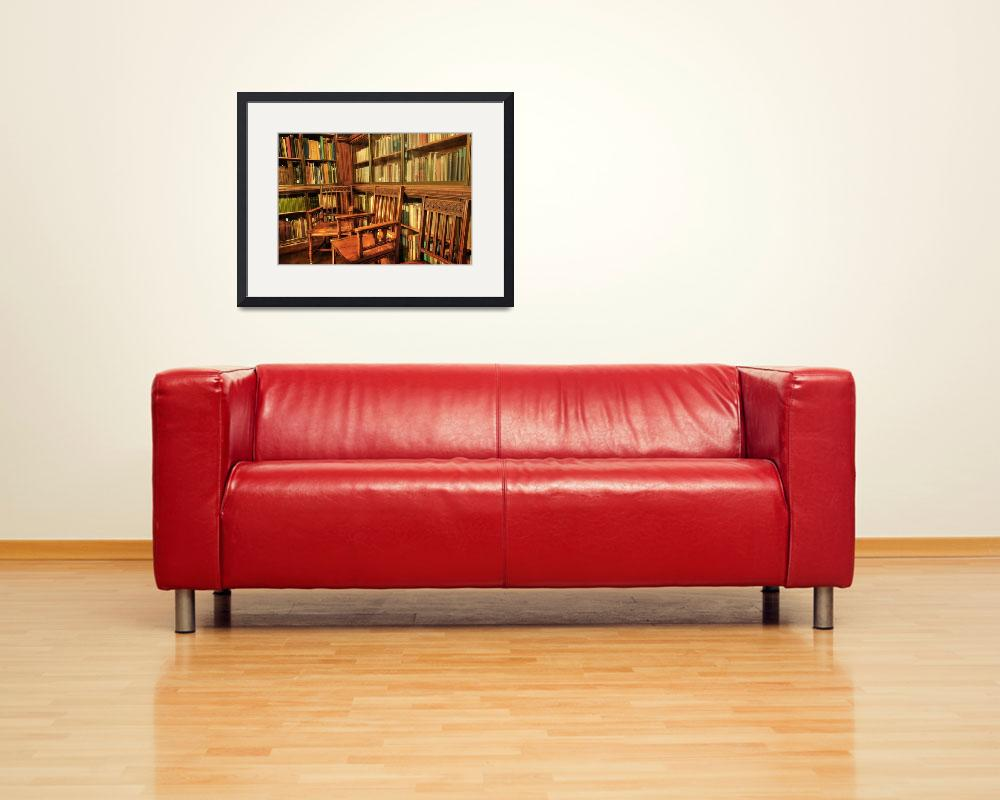 """""""A place to sit in John Rylands Library&quot  (2011) by Stephenknowles"""