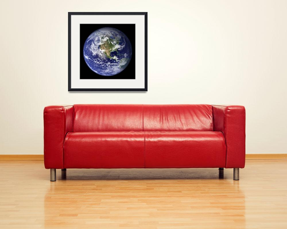 """Full Earth showing the western hemisphere.&quot  by stocktrekimages"