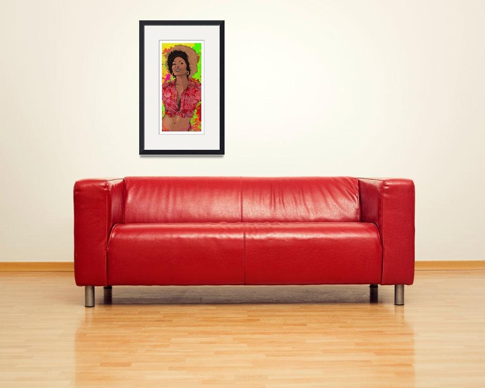 """""""The Radiance of Pam Grier&quot  (2015) by tBaneArt"""