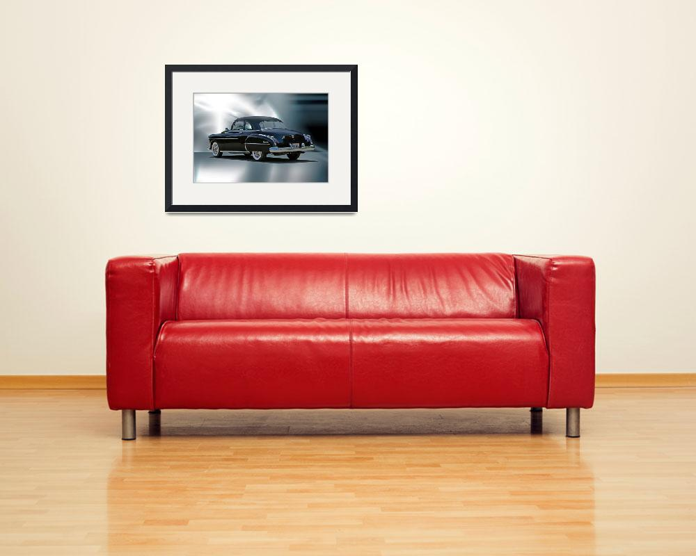 """""""1950 Oldsmobile Rear View Studio&quot  by FatKatPhotography"""