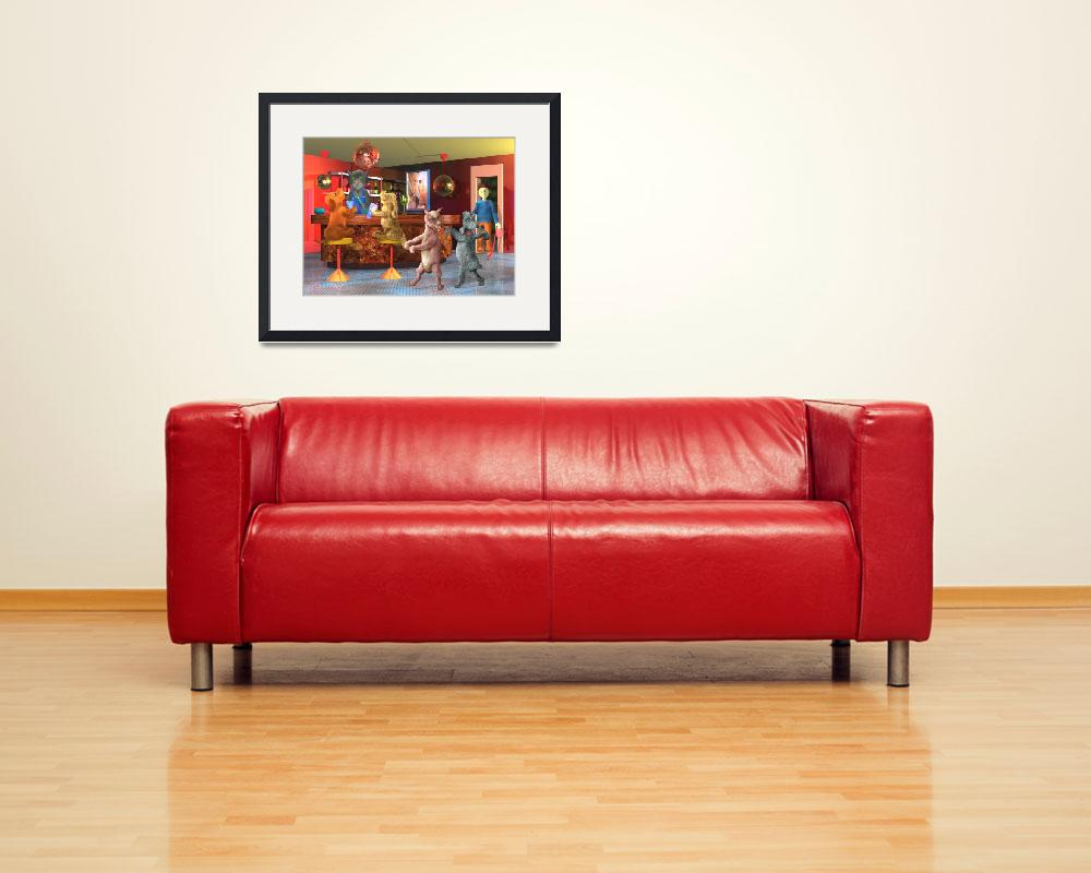 """""""teenager art,red,childrens room,dogs,boy,cat,decor""""  (2004) by MarianneIlevitzky"""