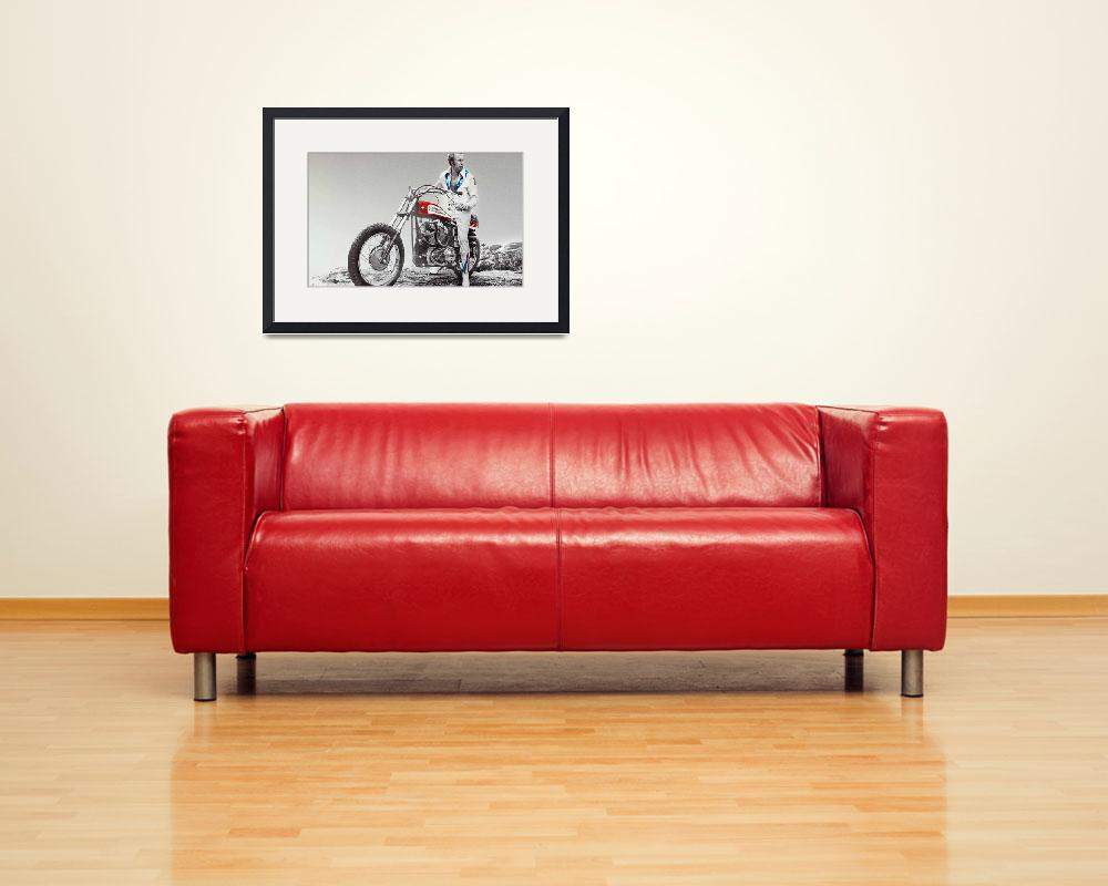 """Evel Knievel Painting Spot Color Large""  by RubinoFineArt"