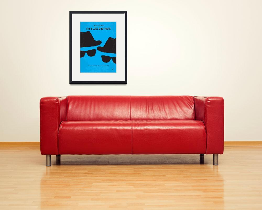 """""""No012 My Blues brother minimal movie poster&quot  by Chungkong"""