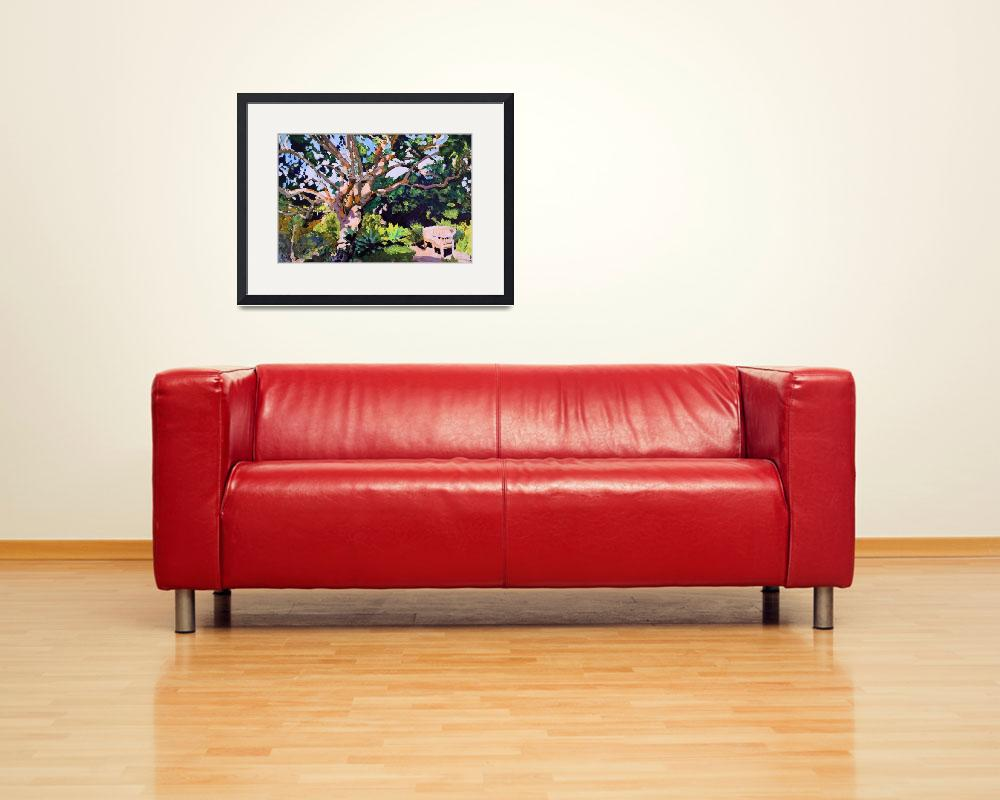 """Summer Meditation Garden&quot  (2015) by RDRiccoboni"