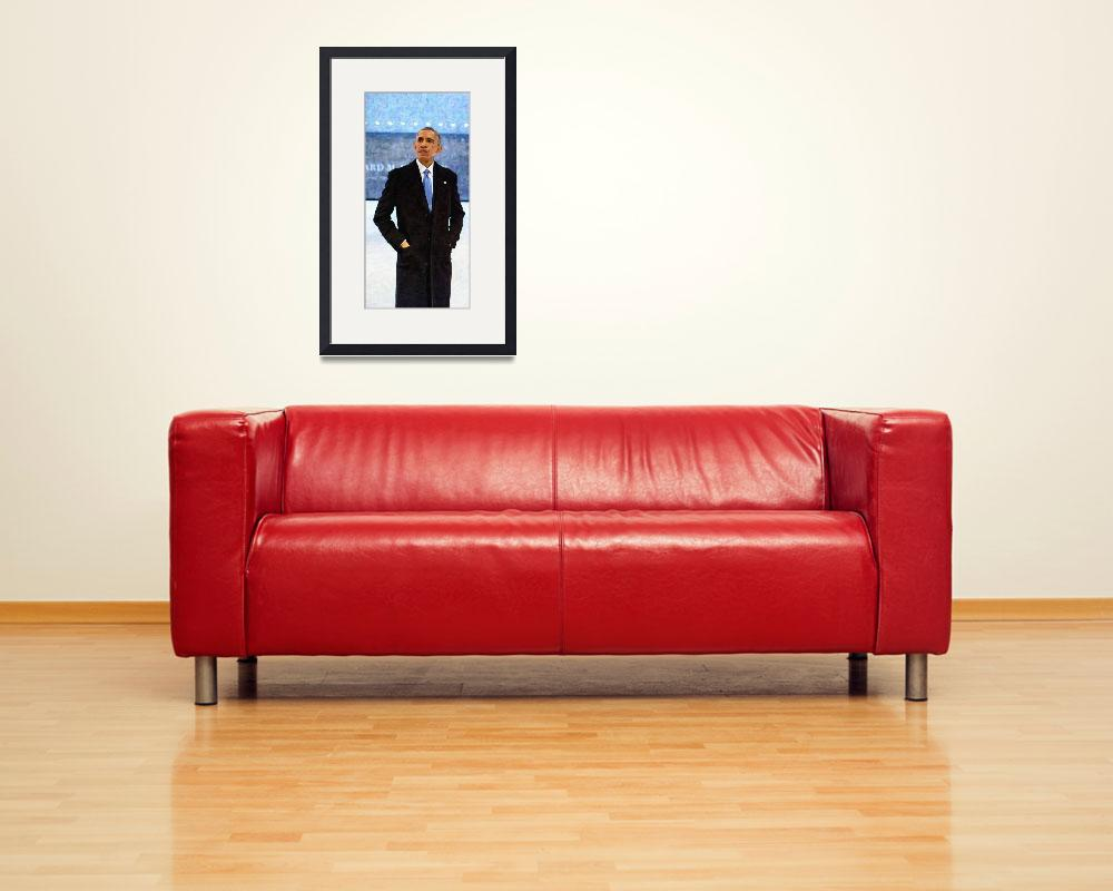 """""""Abstract Portrait of President Barack Obama 10&quot  by motionage"""