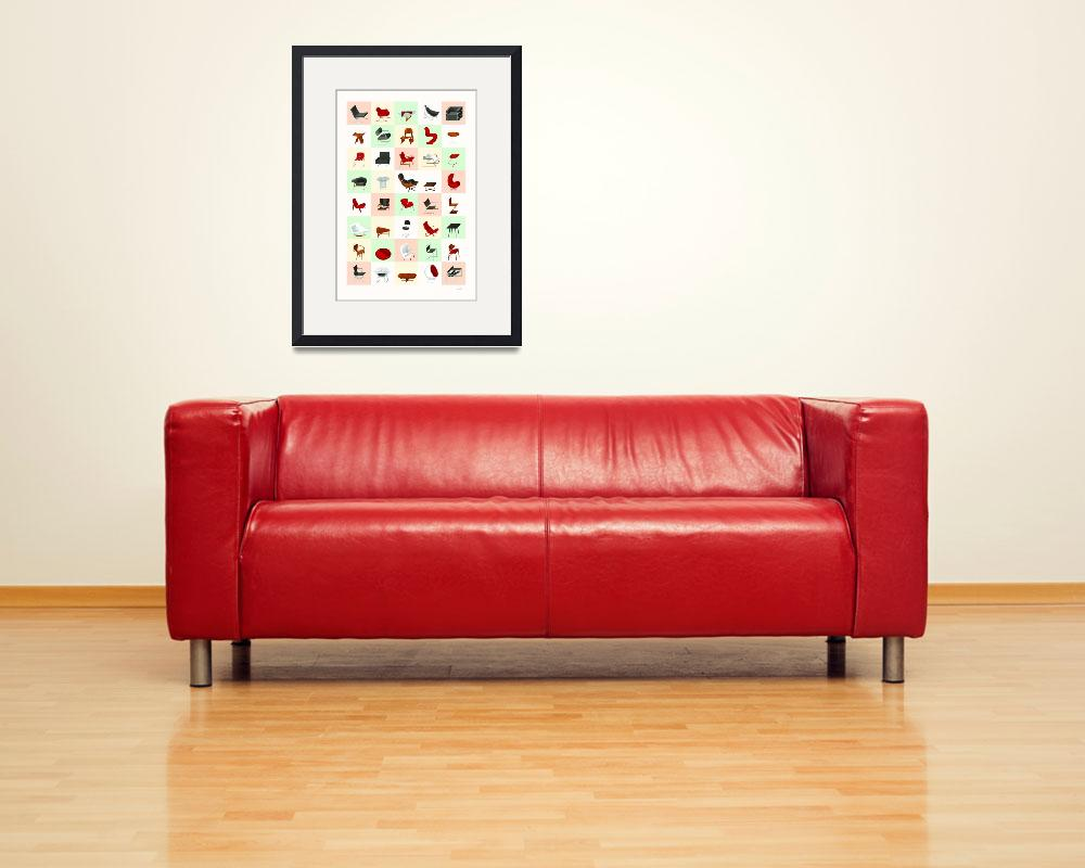 """Mid-Century Modern Furniture (Warm)&quot  (2009) by jamesprovost"