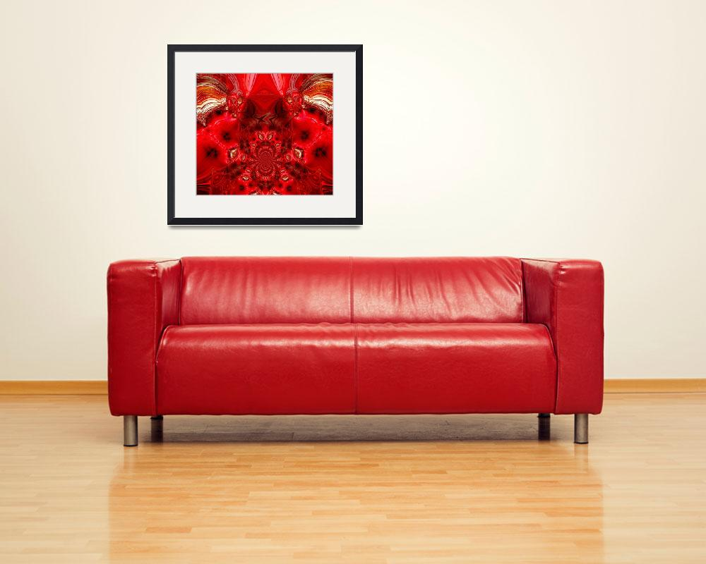 """""""Abstract Art Red Stage&quot  (2009) by shanmaree"""