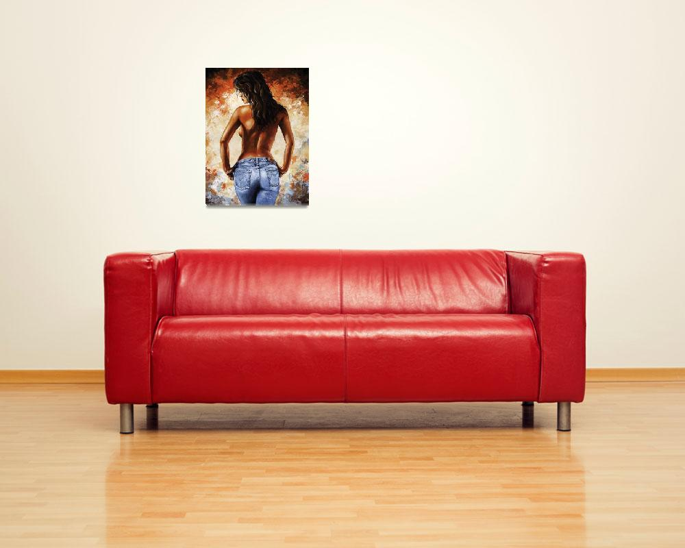 """""""Hot Jeans 02 blue&quot  (2012) by EmericoStyle"""