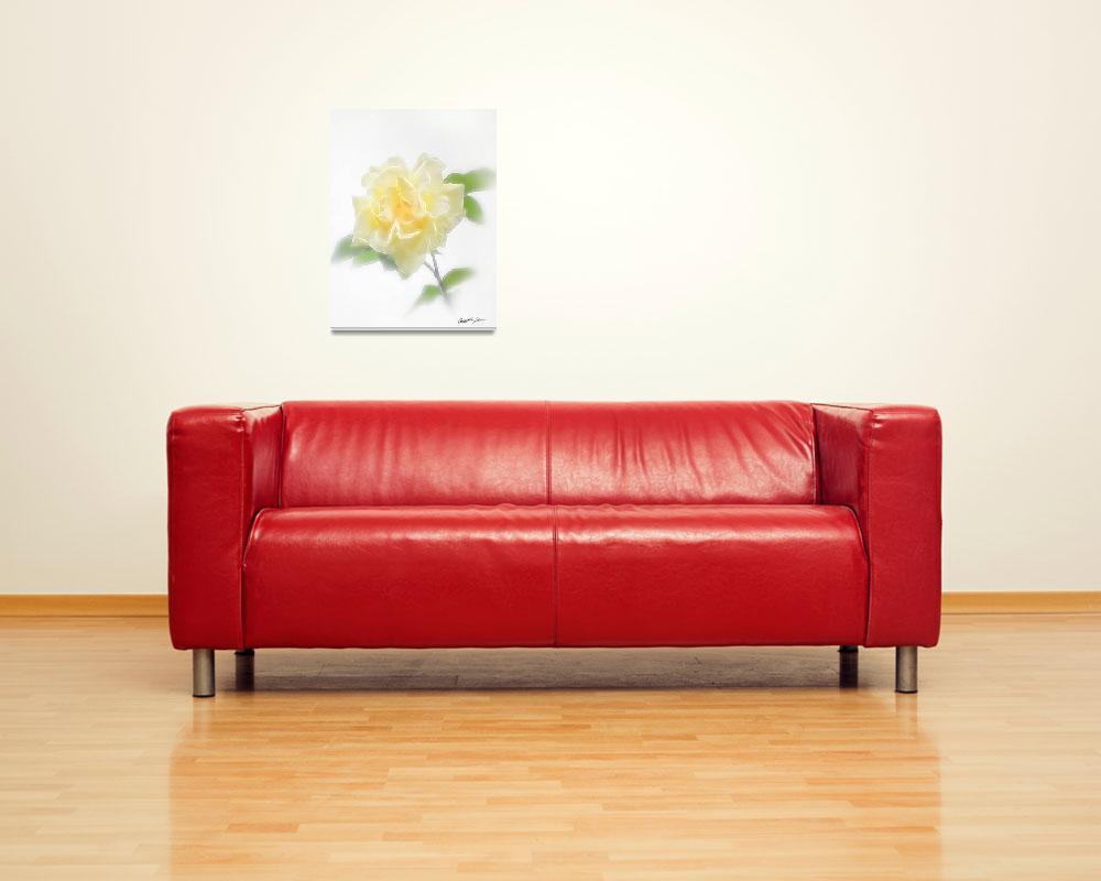 """Creamy Yellow Rose - Divinity""  (2009) by ChristopherInMexico"