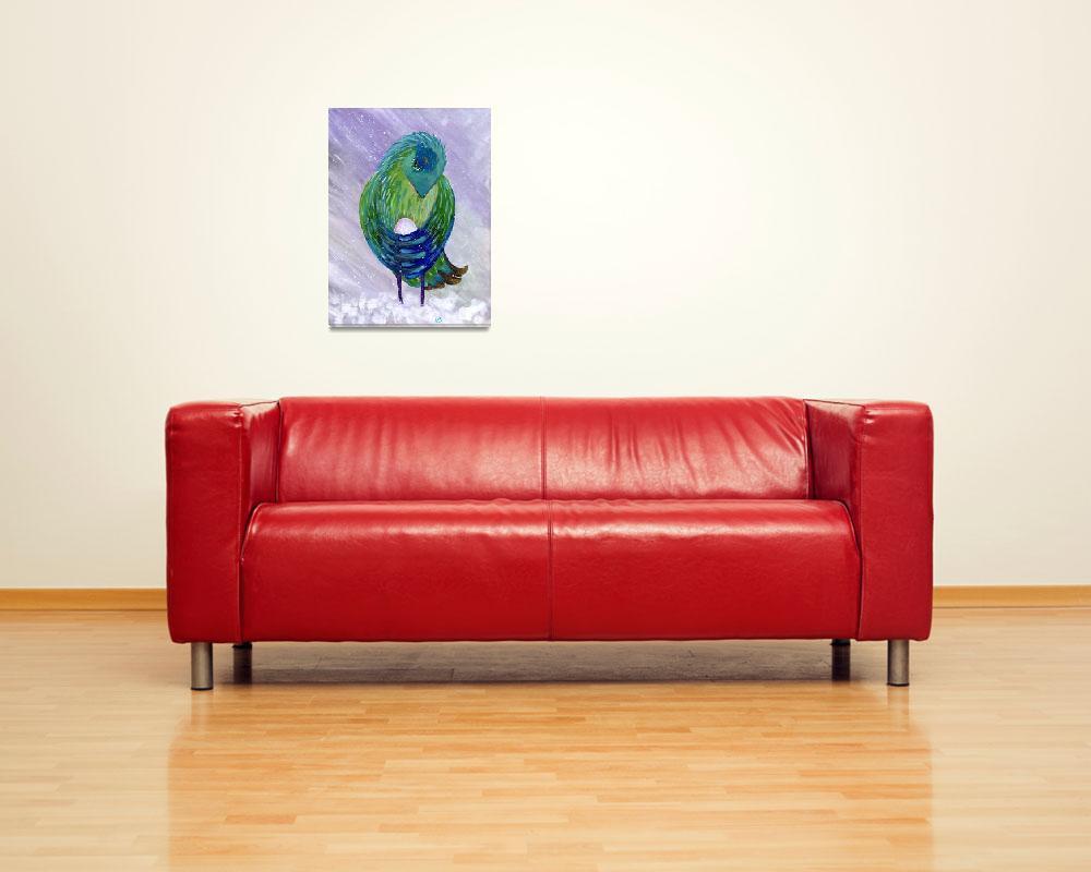 """Bird Brings Good Luck. Mother""  (2014) by elenaschnaider"