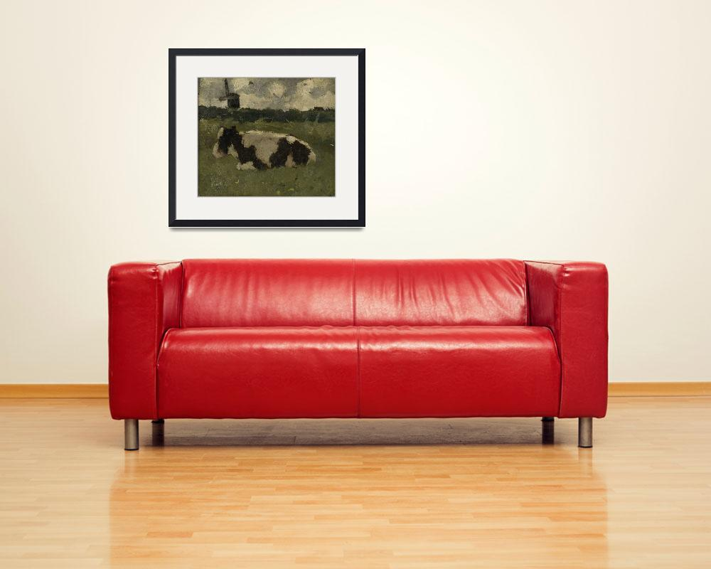 """""""Resting Cow with a Mill, Richard Roland Holst, 188""""  by motionage"""