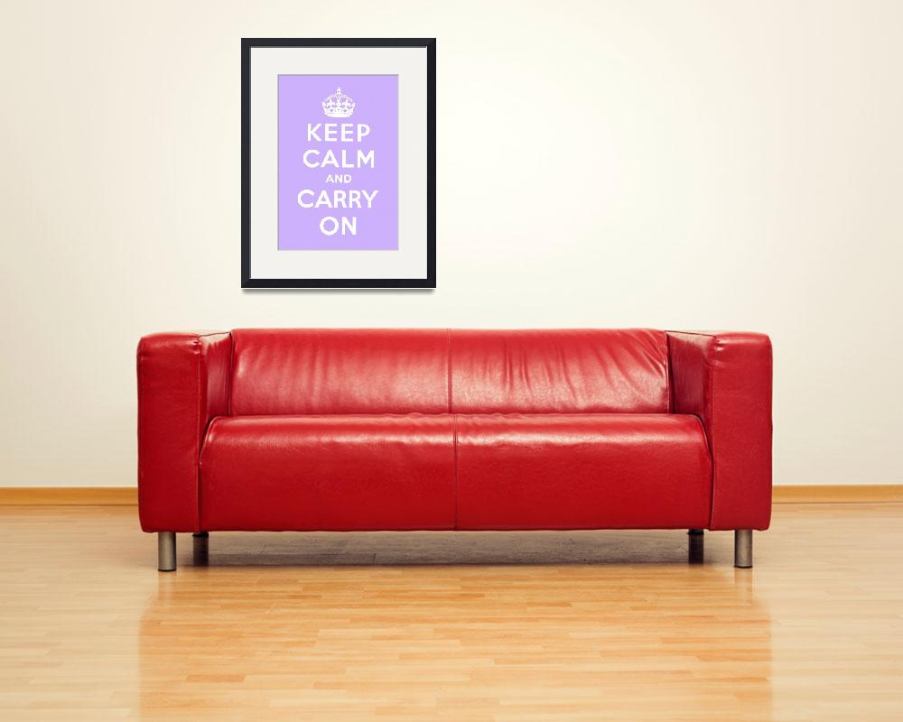 """Purple Keep Calm And Carry On 3&quot  by oldies"