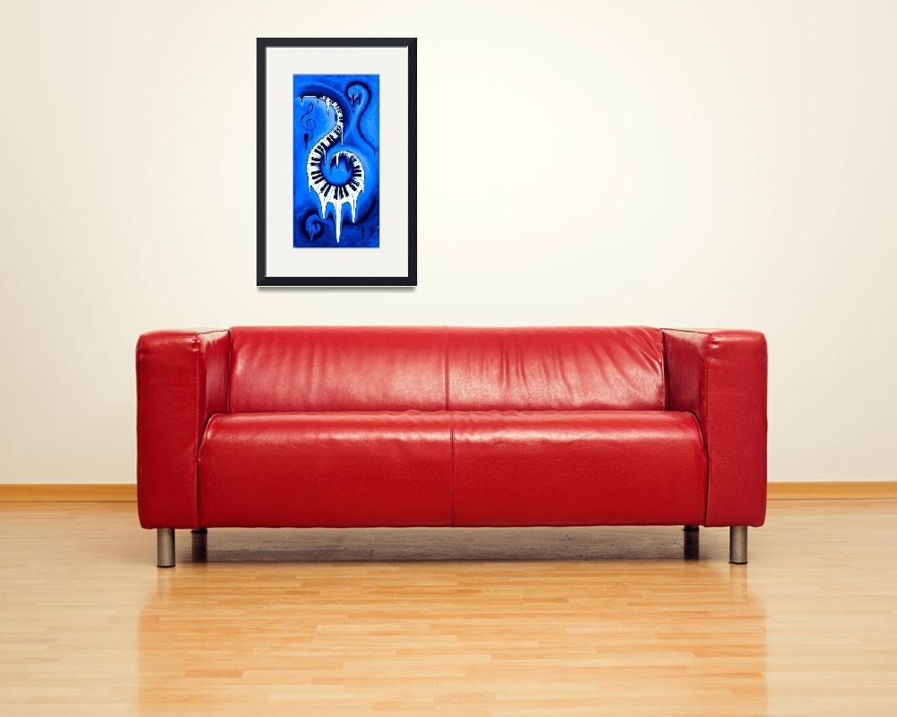 """""""Hot Blue - Swirling Piano Keys - Music In Motion&quot  by waynecantrell"""