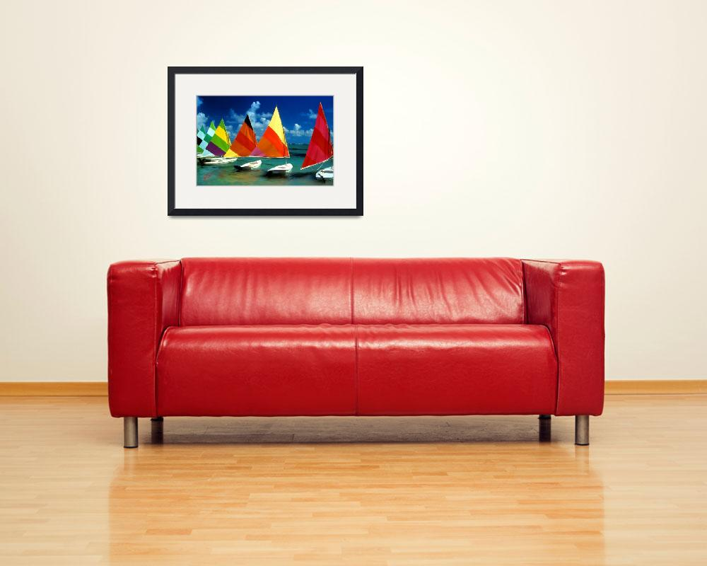 """Sailboat Sensations&quot  by marywhitmer"