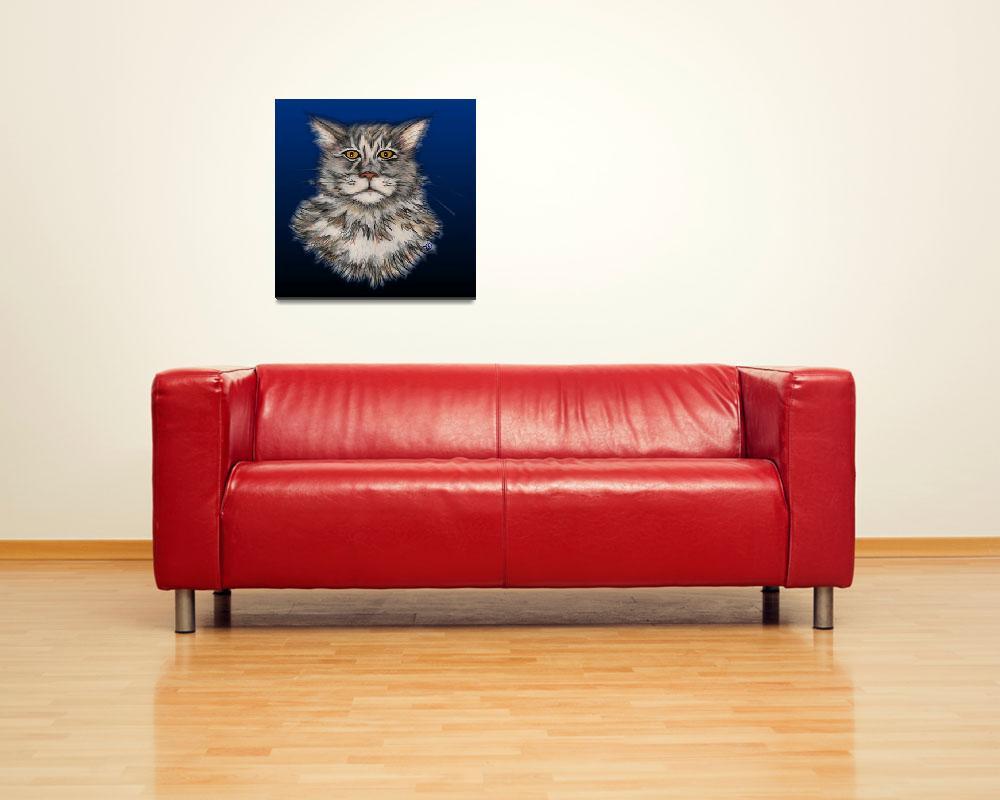 """""""Mr. Kitty Wompuss""""  (2008) by bambiwatson"""
