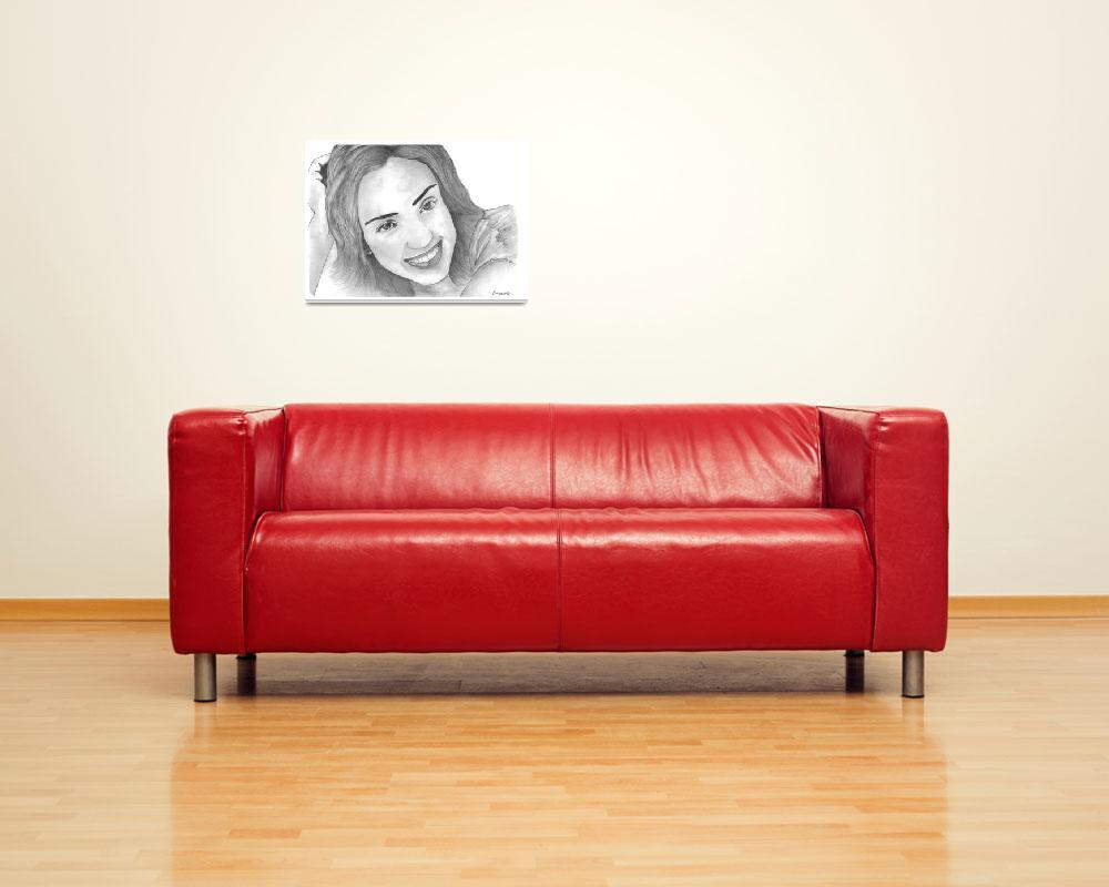"""Jessica Alba Sketch""  (2009) by dreamarts"