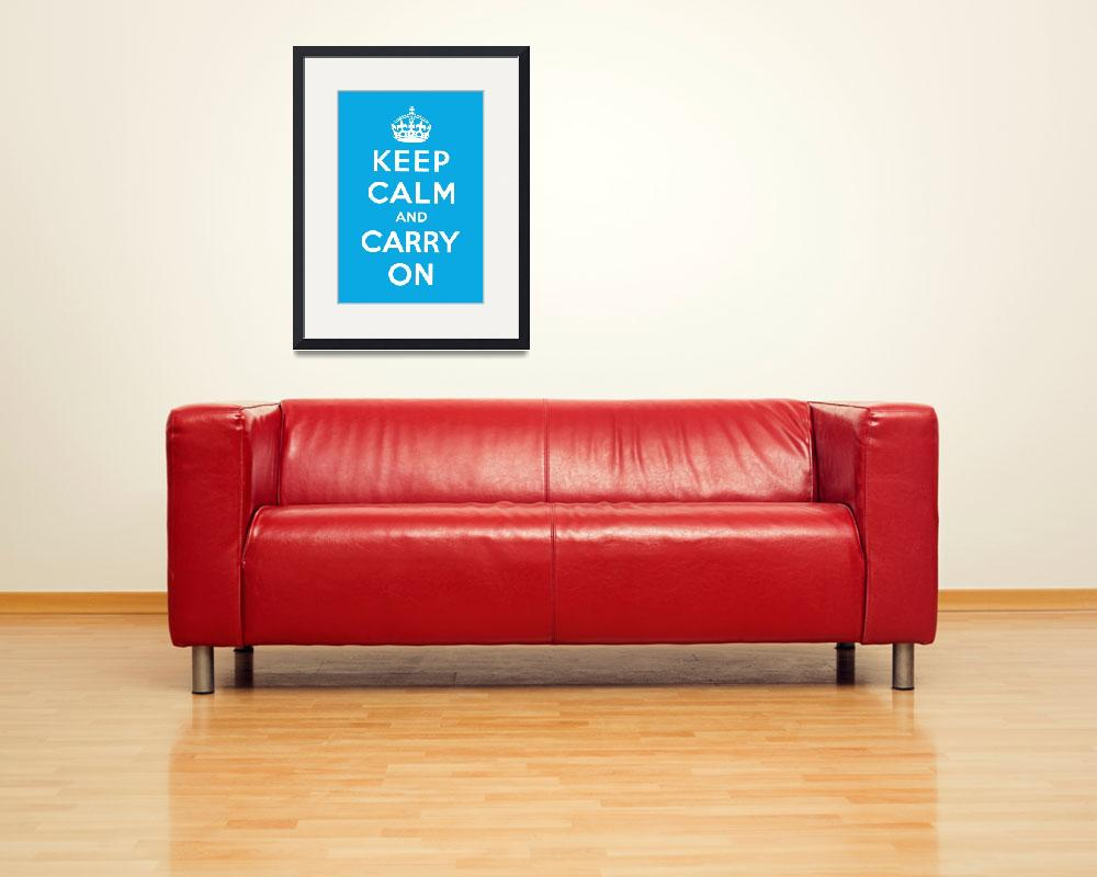 """""""Blue Keep Calm And Carry On 5&quot  by oldies"""