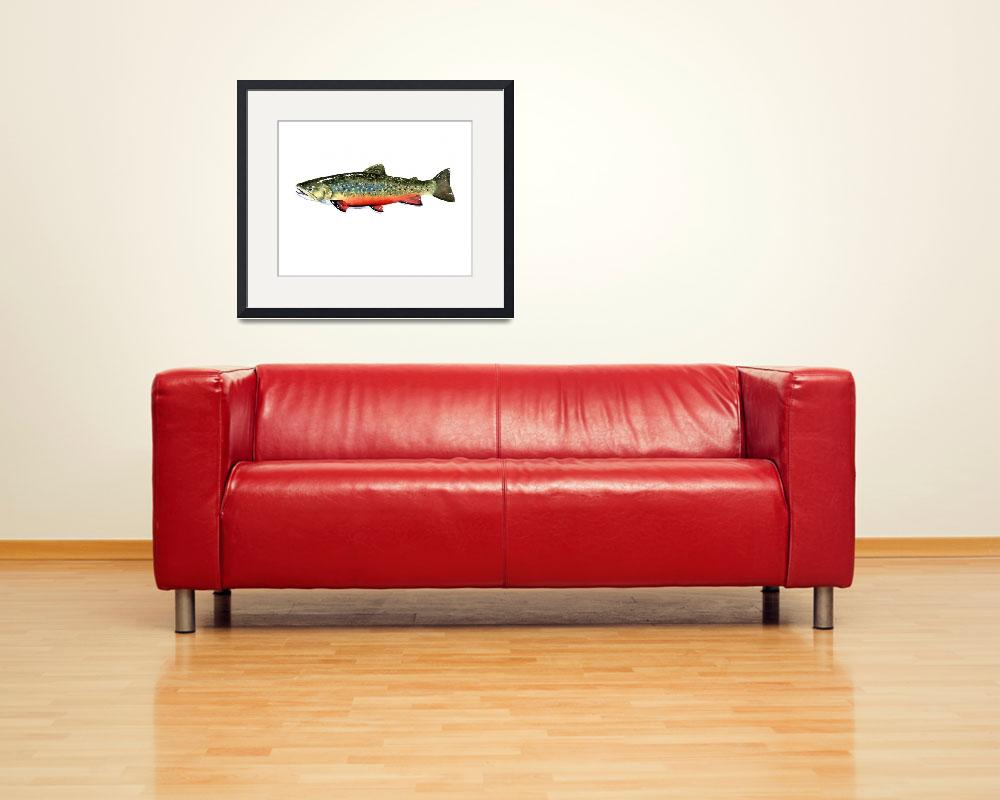 """""""Brook Trout 2&quot  (2015) by k9artgallery"""