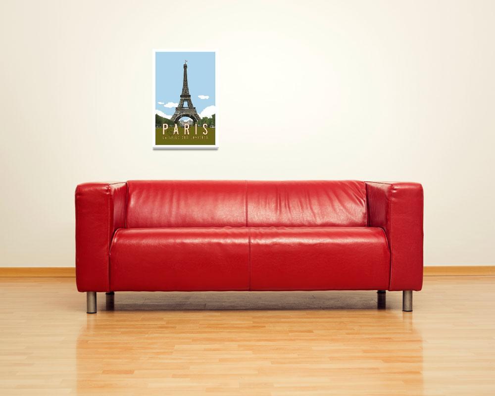 """Paris, France Retro Travel Poster""  by artlicensing"