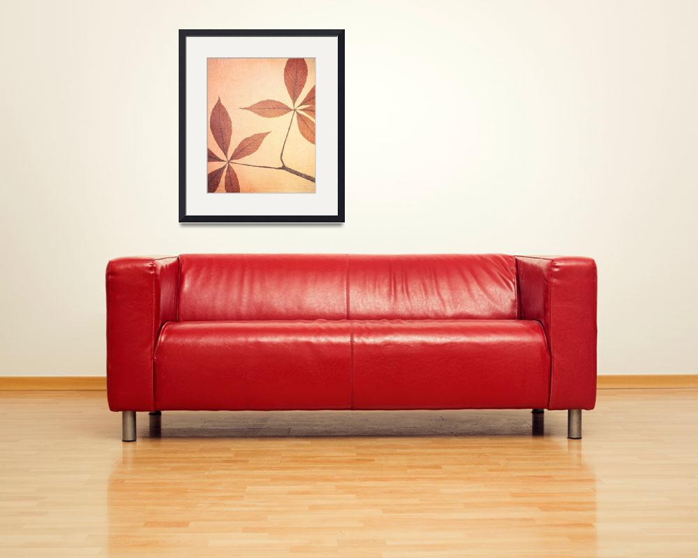 """Natural Canvas Botanicals, Red&quot  (2011) by GiantPeachDesigns"