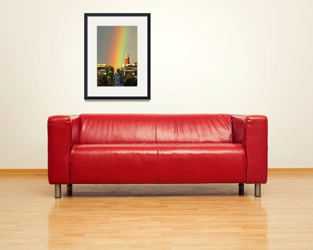 """Rainbow over Portland Observatory&quot  (2005) by GordieSea"
