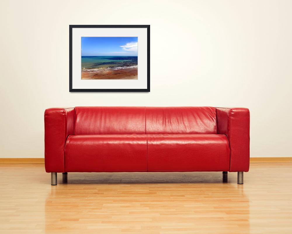 """""""Beach Layers""""  (2009) by ChrisCrowley"""