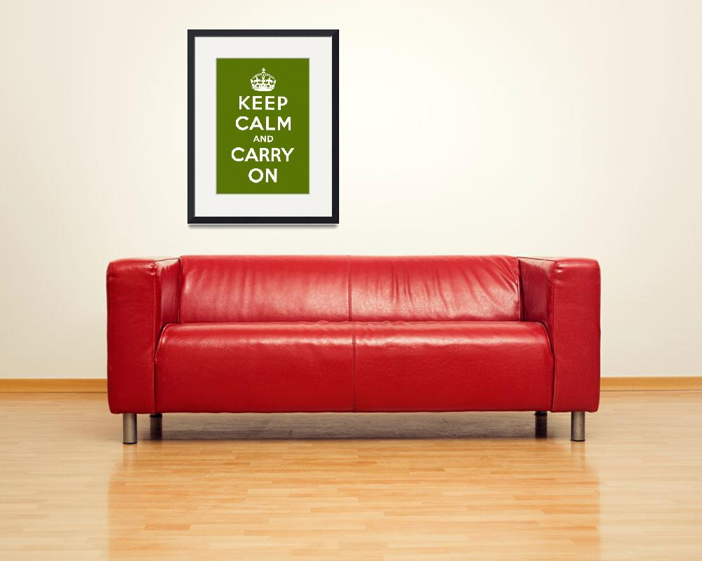"""""""Green Keep Calm And Carry On 3&quot  by oldies"""