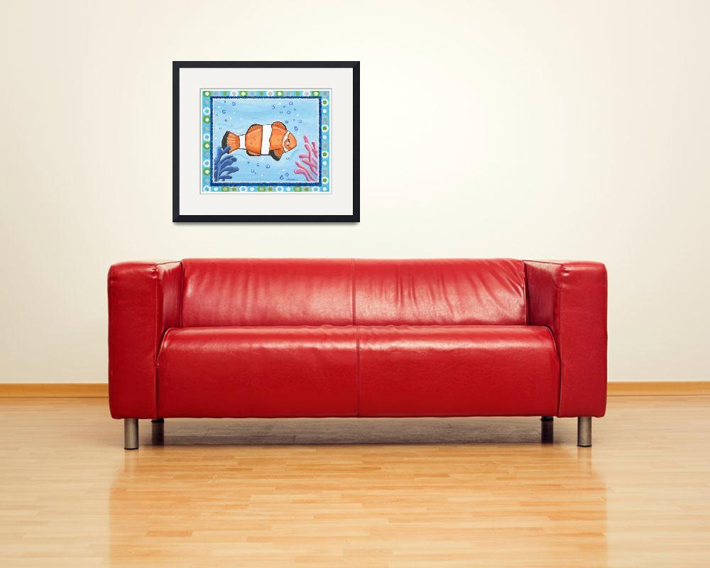 """""""Clown Fish (with border)&quot  (2008) by Littlepig"""