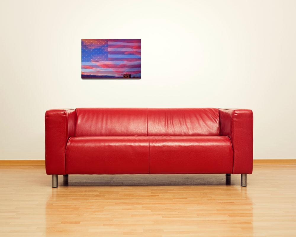 """""""Patriotic Rural America""""  (2012) by lightningman"""