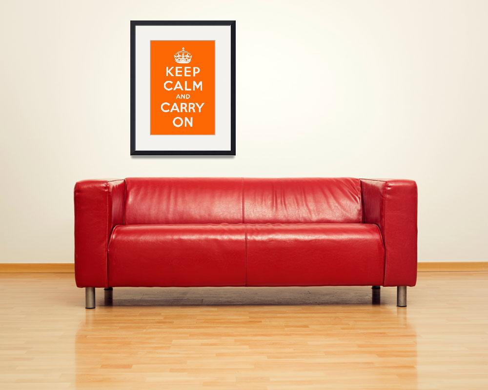 """""""Orange Keep Calm And Carry On 1""""  by oldies"""