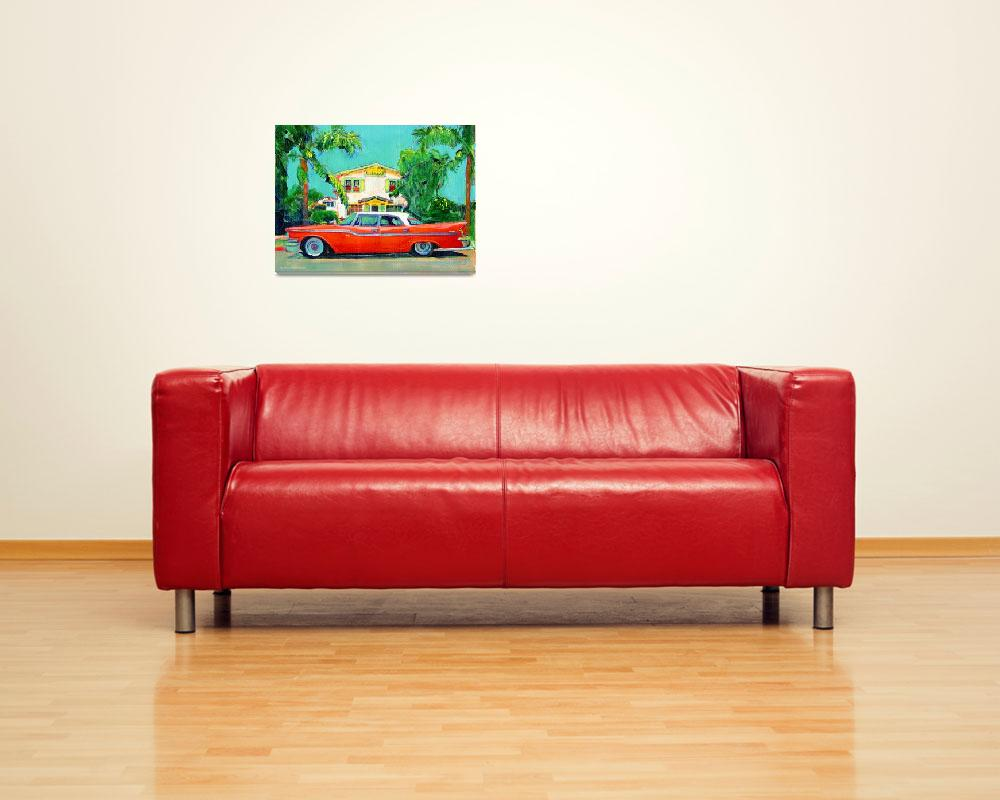 """""""The Red Sled - California Holiday&quot  (2007) by RDRiccoboni"""