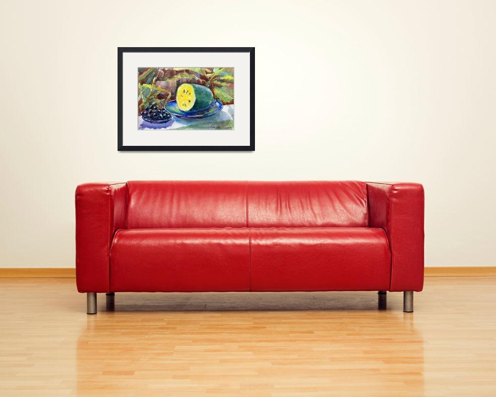 """""""grapes and yellow watermelon&quot  (2012) by irfa"""
