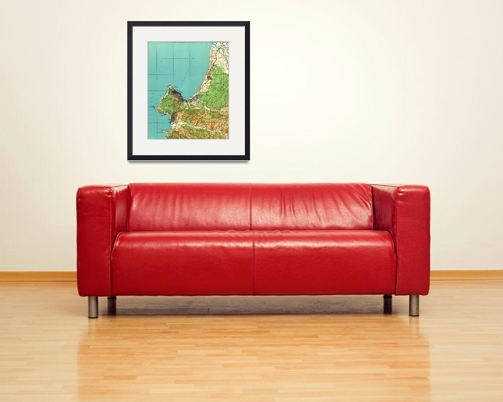 """Vintage Map of Monterey California (1941)""  by Alleycatshirts"