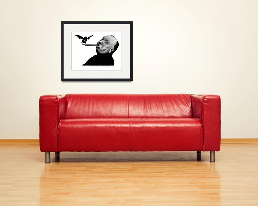 """""""Alfred Hitchcock&quot  (2012) by axemangraphics"""