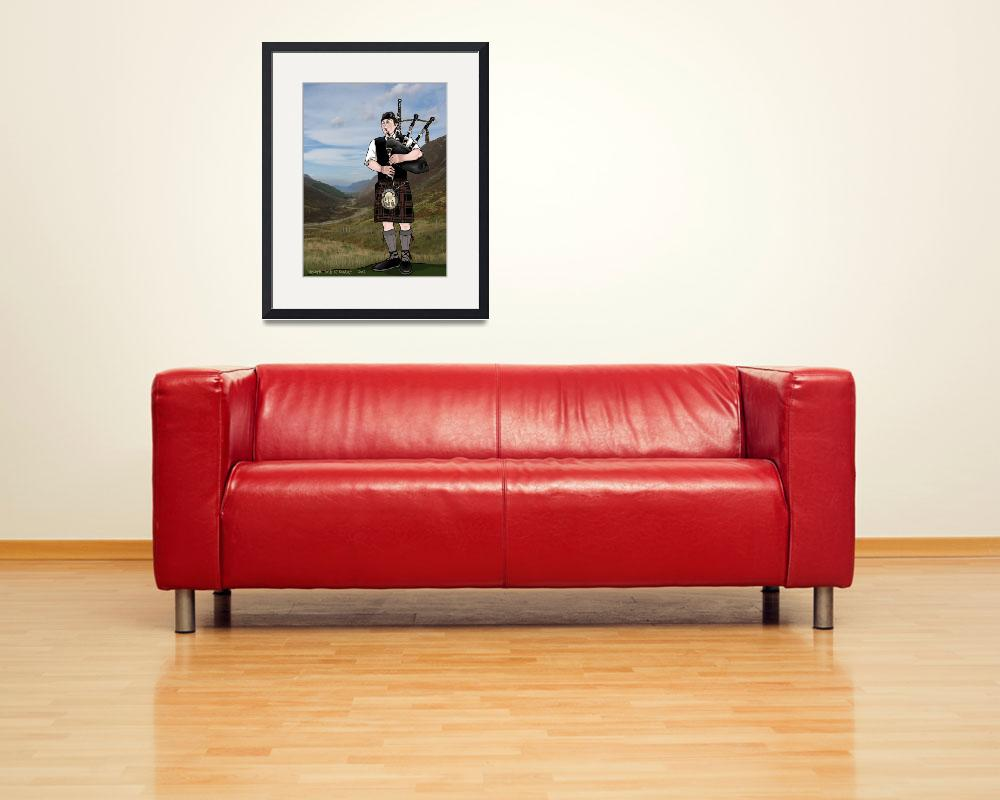 """""""bagpiper from the highlands&quot  (2011) by VickiD"""