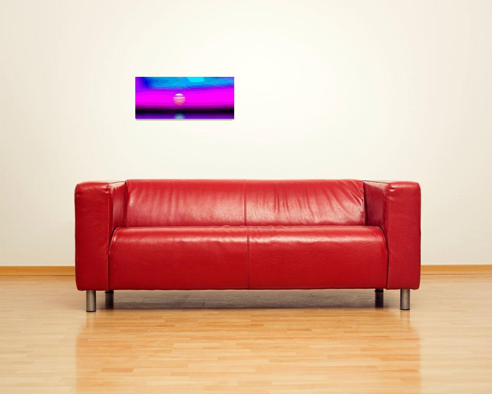 """""""Magenta Seaside Sunset Abstract&quot  (2012) by TheNorthernTerritory"""