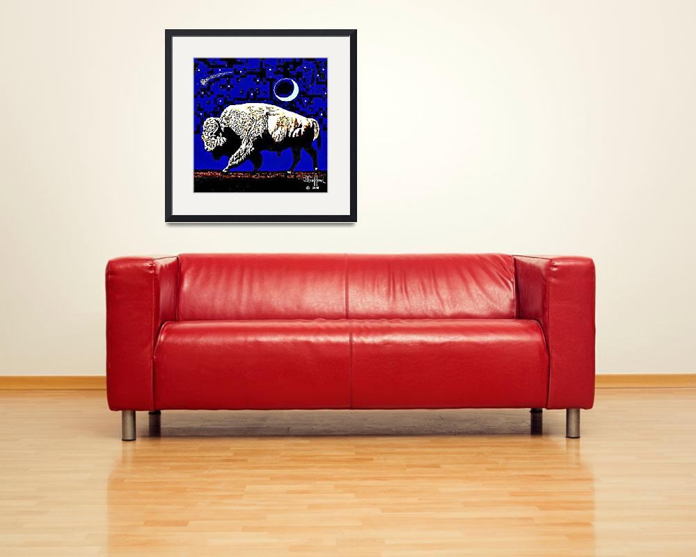 """""""White Buffalo&quot  (2015) by davegafford"""