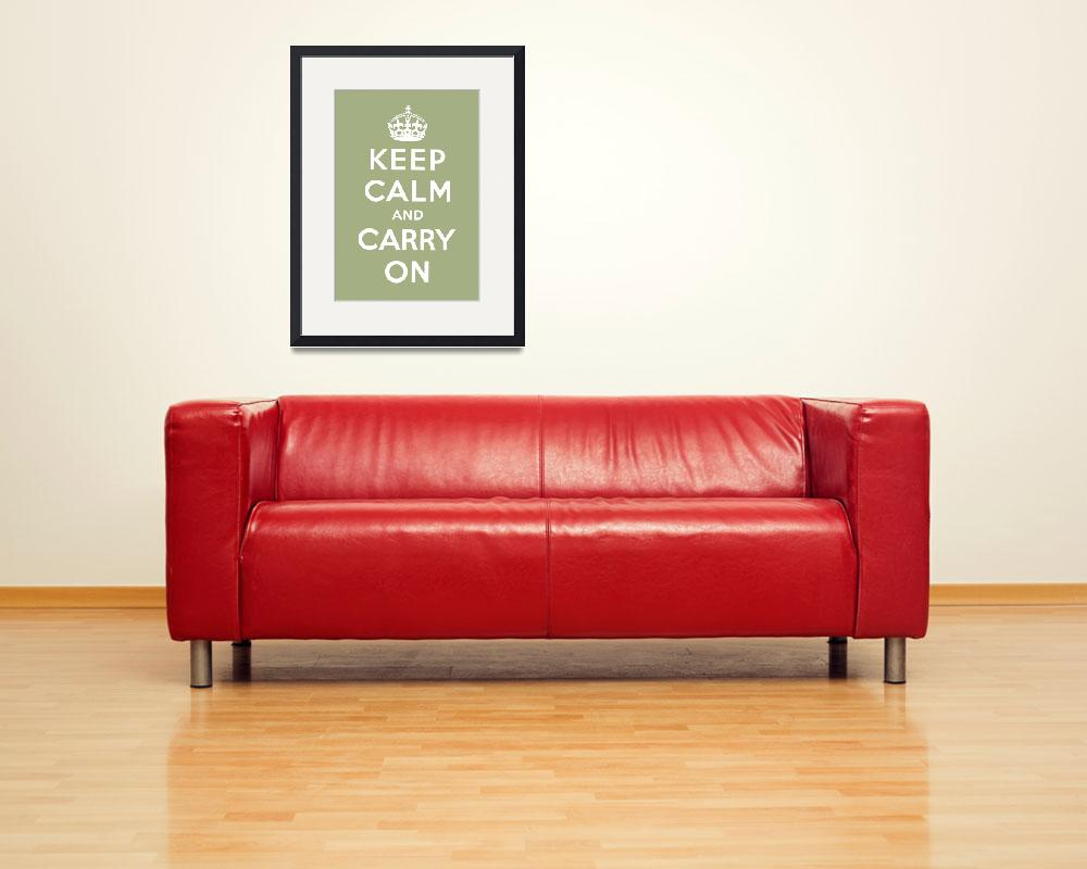 """""""Green Keep Calm And Carry On 6&quot  by oldies"""