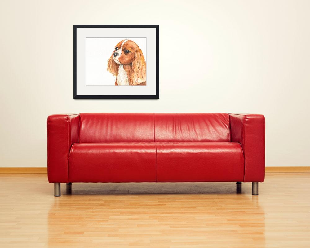 """Maddie the Affectionate Aristocrat Spaniel""  (2014) by Designomel"