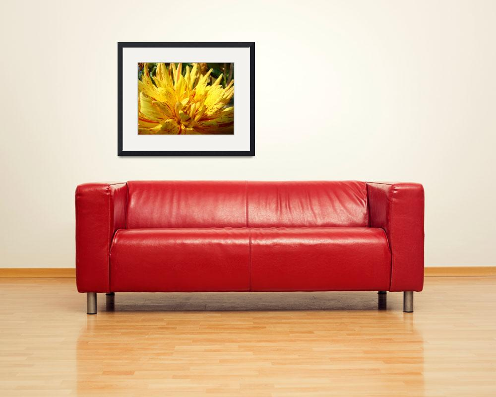 """""""CHRISTMAS ART GIFTS Yellow Dahlia Flower&quot  (2009) by BasleeTroutman"""