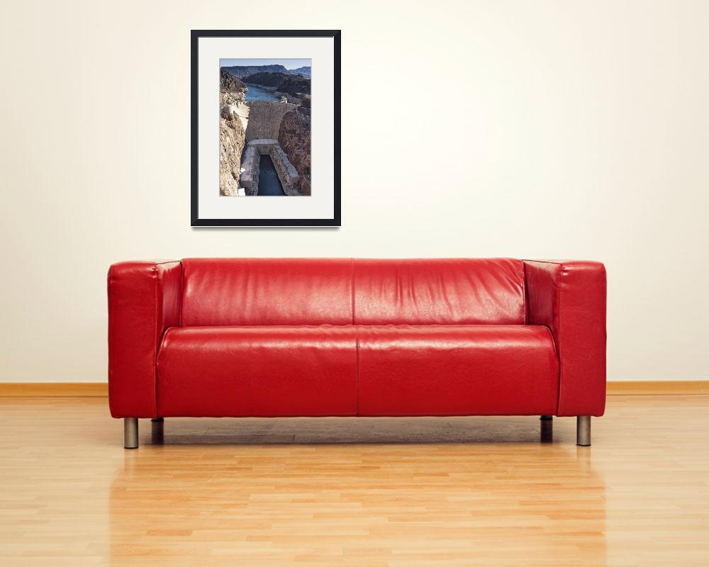 """""""Hoover Dam, color photograph&quot  by artlicensing"""