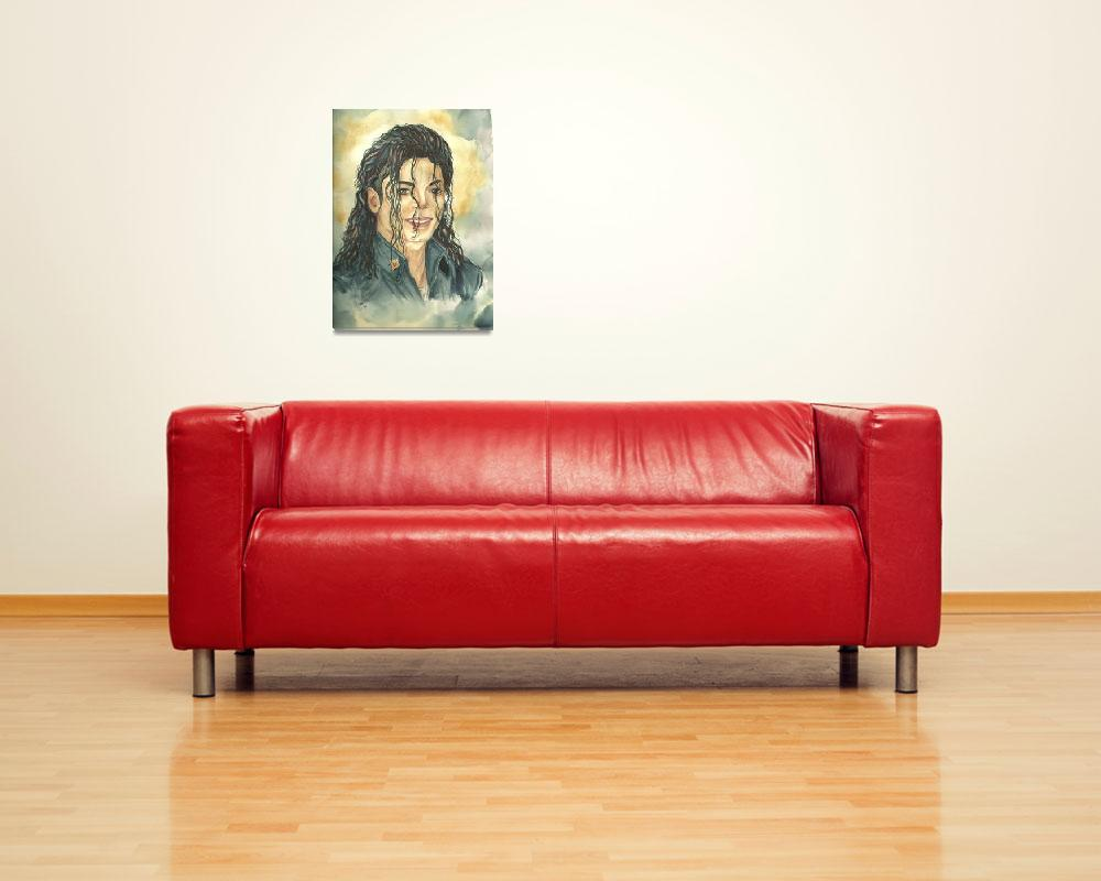 """""""Michael Jackson limited edition Giclee Art Print f&quot  (2010) by NicoleWang"""