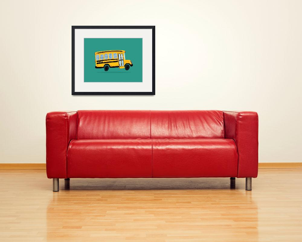 """""""Cute School Bus&quot  (2017) by nathanpoland"""