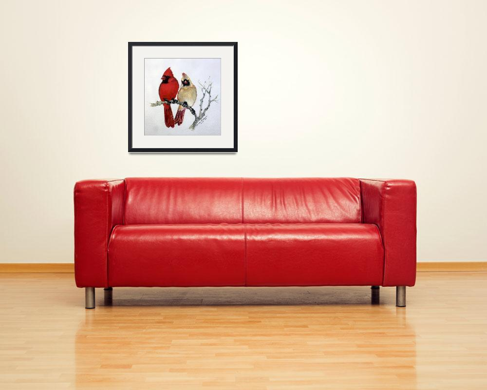 """""""SASSY PAIR CARDINALS&quot  (2017) by MBaldwinFineArt2006"""