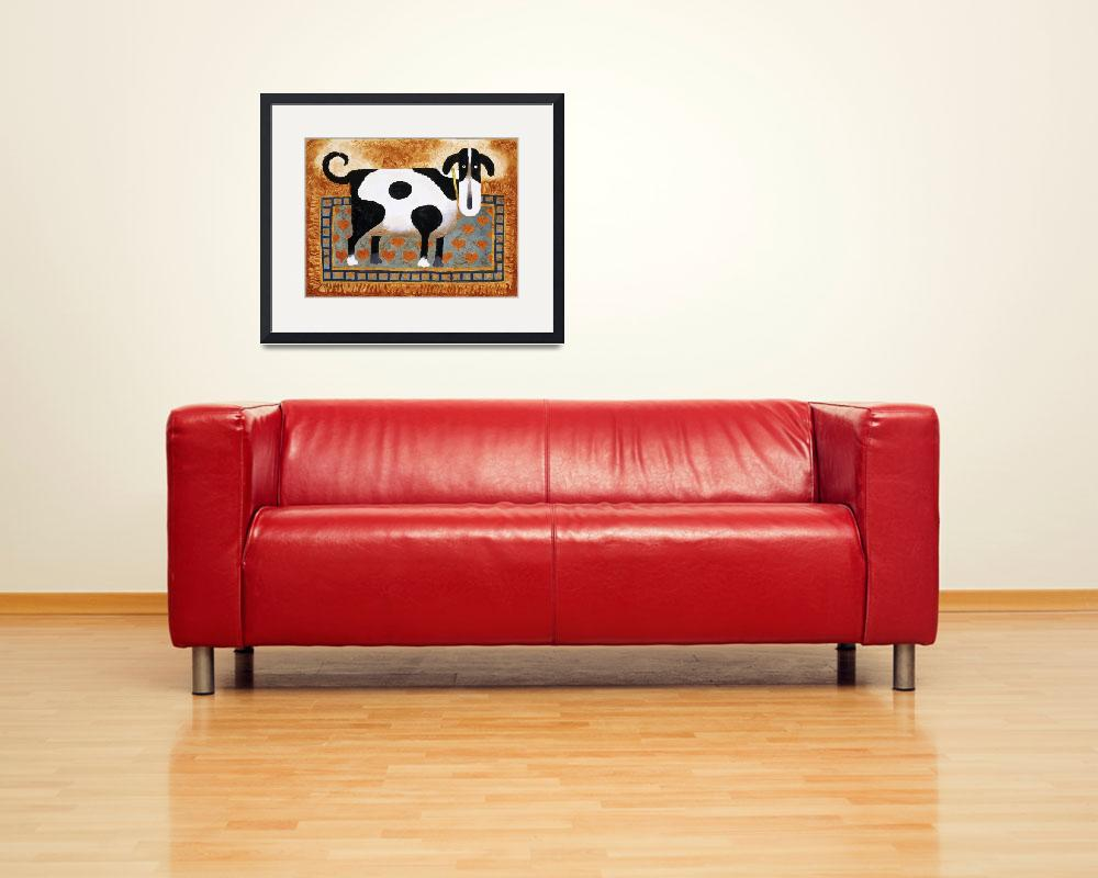 """Dog On A Rug&quot  by artlicensing"
