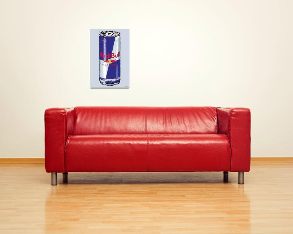 """""""Red Bull Ode To Andy Warhol""""  (2013) by RubinoFineArt"""