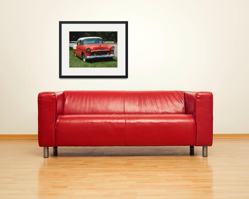 """""""1955 Chevy Bel Air with """"Sponge Painting"""" Effect""""  (2009) by Ffooter"""